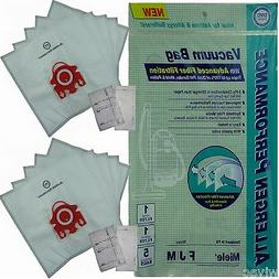 10 Allergen Cloth Vacuum Bags to fit Miele Style FJM+Filters