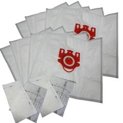 10 Bags for Miele FJM Synthetic Vacuum Cleaner Bag + 4 Filte