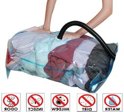 10 Pack: X6 Jumbo XL Large Vacuum Space Saver Storage Bag +