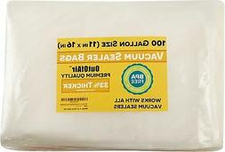 100 Vacuum Sealer Bags: Gallon Size  for Foodsaver 33% Thick