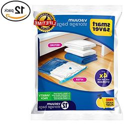 12 Vacuum Storage Bags - SmartSavers Space Saver Bags , Vari