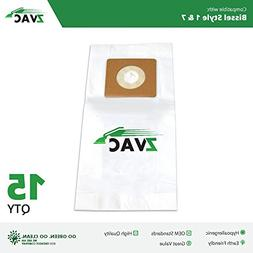 15 Bissell Style 1 7 Vacuum Bags Generic Part By ZVac. Repla