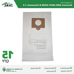 ZVac Compatible 50558 Replacement for Kenmore 15Pk Generic K