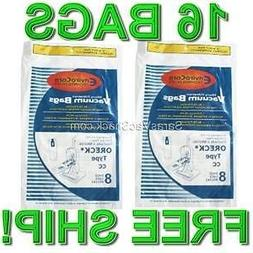 16 Allergy Bags for Oreck XL XL2 Upright Vacuum Type CC