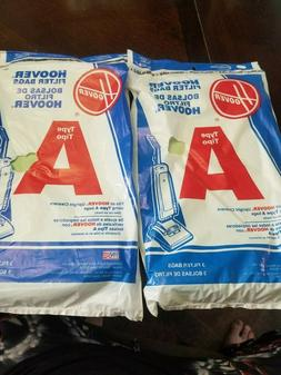 """2 HOOVER FLOOR CARE Hoover Style """"A"""" Top Fill Vacuum Bags, 3"""