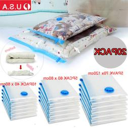 20 PACK LARGE Space Saver Bags Storage Bag Jumbo Compresed V