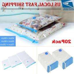 20Pcs Vacuum Storage Bags Seal Space Saver Hoover Compressio