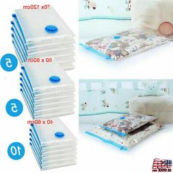20x Vacuum Storage Bags For Clothes Blankets Compressed Pack