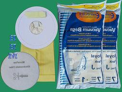 21 Royal Tank Type J Allergy Vacuum Bags + 3 Filters, Dirt D