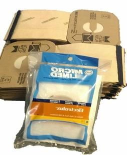 24 DVC Microlined Vacuum Bags + 2 Exhaust Filters for Electr