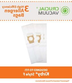 Think Crucial 3 Replacement for Kirby F Cloth Bags, Fit Ulti