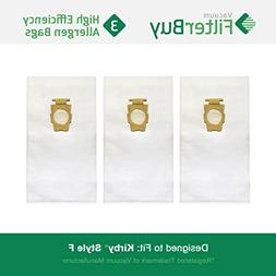 3 - FilterBuy Kirby Style F Vacuum Bags. Replacement Kirby U