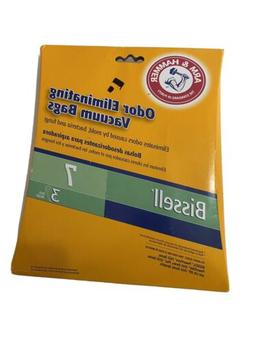 3 Pack Bissell Vacuum Cleaner Bags No 7 Arm and Hammer Odor