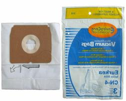 3 Eureka Style CN4 689376 Canister Vacuum Bags Allergen Powe
