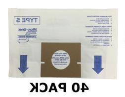 40 ALLERGEN Bags for HOOVER Vacuum Windtunnel, Futura, and S