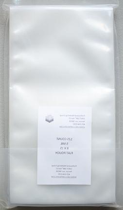 5 Mil 8x15 125ct FLAT COMMERCIAL CHAMBER BAGS Vacuum Sealing