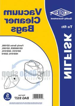 5 x NILFISK Vacuum Cleaner Dust Bags To Fit - Family Series,