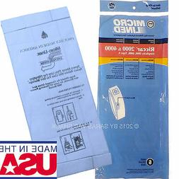 6 Micron Filtration Bags to fit Riccar Vacuum 2000 4000 TYPE
