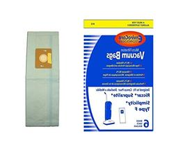 6 Riccar & Simplicity Type F Canister Vacuum Cleaner Bag Rep