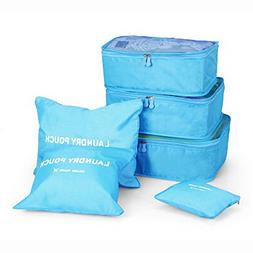 TheRang 6PCS Waterproof Clothes Storage Bags Packing Cube Tr