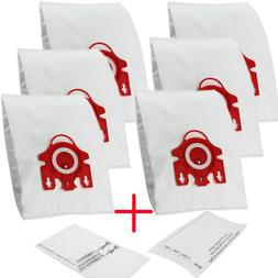 6X Vacuum Cleaner Bag + 2 Filter For Miele Type FJM 3D Effic