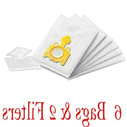 6X Vacuum Cleaner Bags + 2 Filters For Miele Type K KK H1 Sw