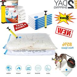 Clothes Storage Bags Vacuum Space Saver Bags Seal + FREE Han