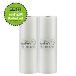 2 foodvacbags 11 x50 rolls for foodsaver