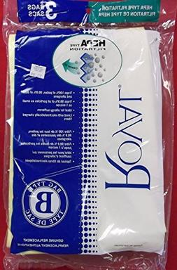 Royal Vacuum Cleaner Type B HEPA Bags - 3 Bags