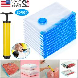 10 x Jumbo Vacuum Storage Bags Travel Space Saver Garment Se
