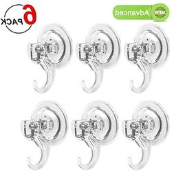 LUXEAR Suction Cup Hooks, Powerful Suction Hooks , Shower Su