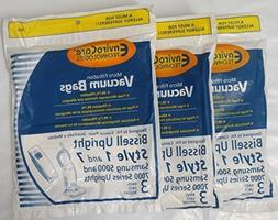 2 X Bissell Style 1 and 7 Upright Vacuum Bags -9 Pk PackageQ
