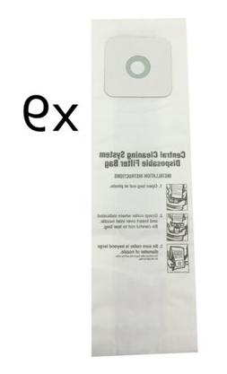 CENTRAL VACUUM BAGS for Nutone 391, 391-8, 3918, 44186 9-Pac