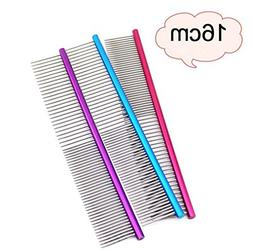 Creazy 16cm Pet Comb Professional Steel Grooming Comb Cleani