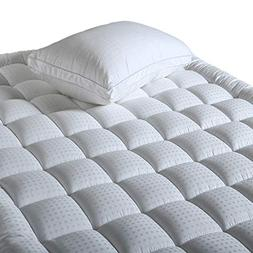 Balichun Fitted Quilted Mattress Pad Cover  - Luxurious 300T