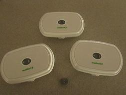 Food Saver Fresh Saver Deli Containers, Three, New Fast Ship