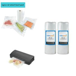 Food Saver Vacuum Sealer Rolls Bags Storage Container Seal B