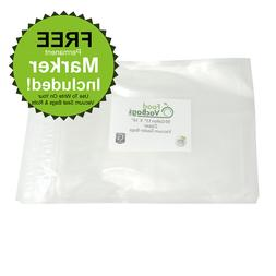 "Gallon Zipper Vacuum Sealer Bags - 11""x16"" FoodVacBags compa"