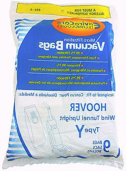HOOVER VACUUM BAGS Type Y Replacement: 9 pk Hoover WindTunne