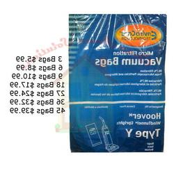 HOOVER WIND TUNNEL TYPE Y VACUUM BAGS...Choose From 3 Bags t
