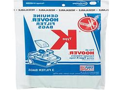 Hoover Type K Canister 2 Ply Vacuum Paper Bags 3 PK # 401002