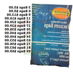 KENMORE CANISTER VACUUM CLEANER BAGS TYPE C FOR MODELS 5055,