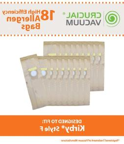 Crucial Vacuum Kirby Style F Paper Vacuum Cleaner Bags