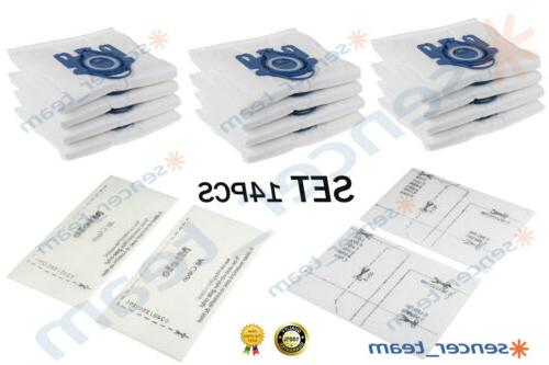 12x Genuine HyClean Dust Bags For Miele GN Cleaners+Filters