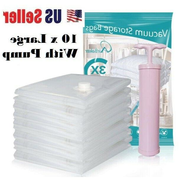 15pc vacuum storage bags space saver hand