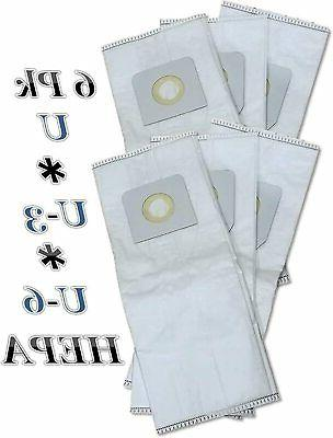 20 Microlined Vacuum Bags to fit Panasonic  U, U3, U6  MADE