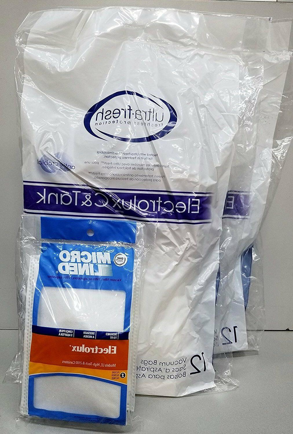 24 Electrolux Canister Style Vacuum Cleaner Bags Filters