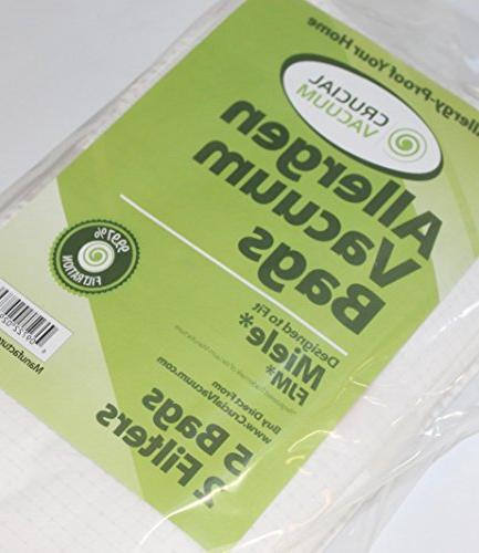Think Crucial for Miele HEPA Style Cloth Bags, Motor & Clean Filters S241-S256i, S290-S291, S300i-S399, & S4000-S4999