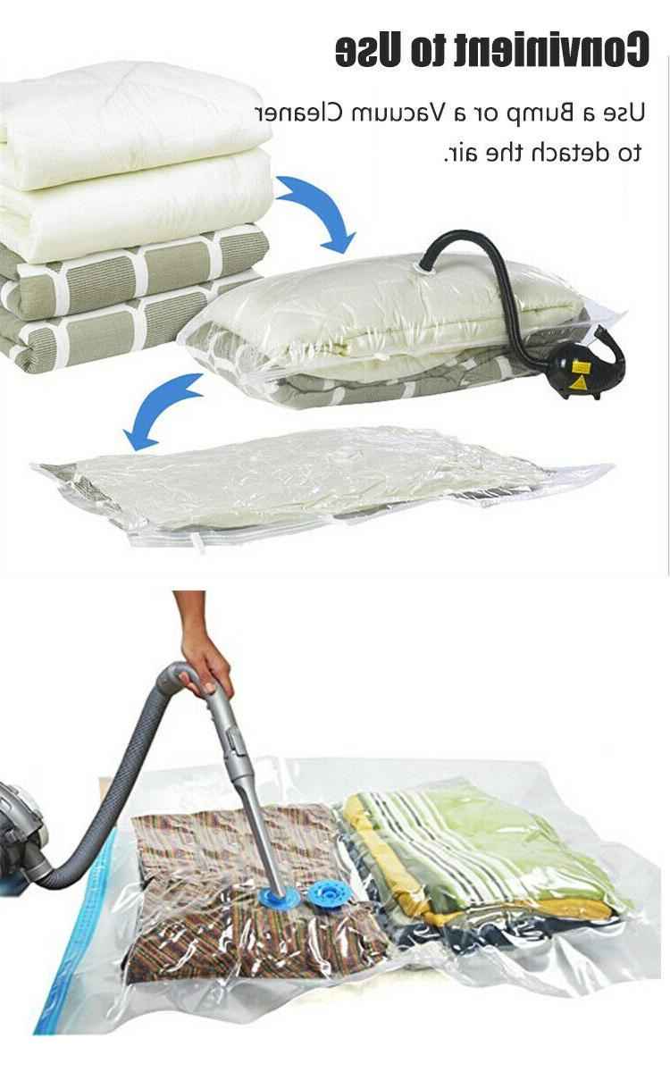 5pcs Heavy Duty Seak Bags Space Saver Garment Large