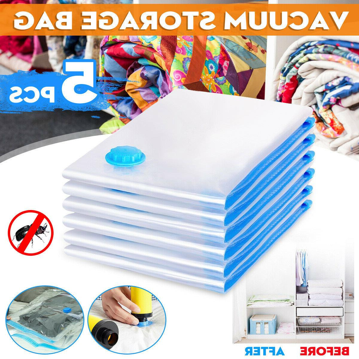 5pcs heavy duty vacuum seak storage bags